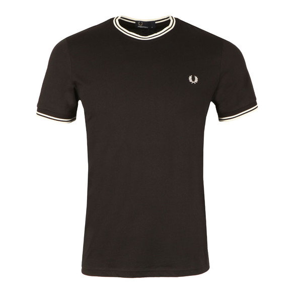 Fred Perry Mens Black Twin Tipped T-shirt main image