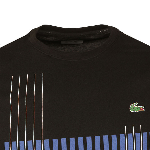 Lacoste Sport Mens Black TH7976 Print Tee main image