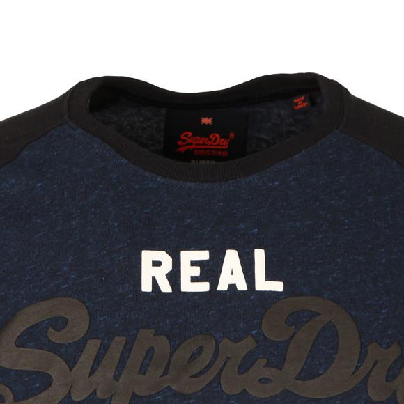 Superdry Mens Blue S/S Vintage Logo Raglan Tee main image
