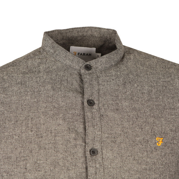 Farah Mens Grey L/S Steen Grandad Shirt main image