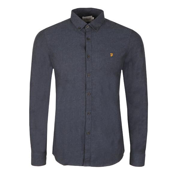 Farah Mens Blue Steen Slim Shirt main image