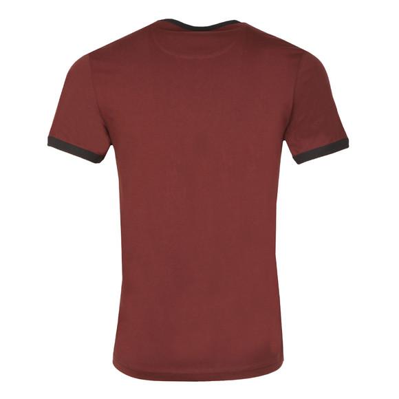 Farah Mens Red Groves Ringer T-Shirt main image