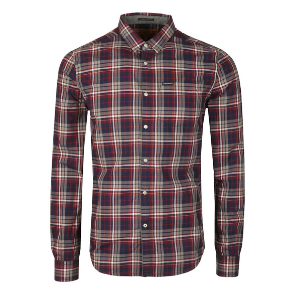Superdry Mens Blue L/S Raw Washbasket Shirt main image
