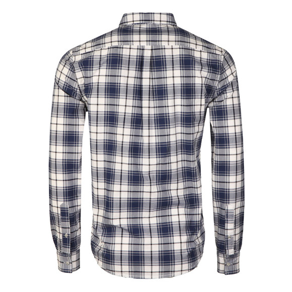 Superdry Mens White L/S Raw Washbasket Shirt main image