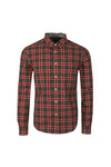 Superdry Mens Green L/S Raw Washbasket Shirt