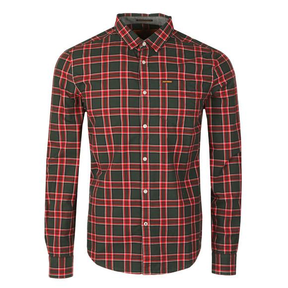 Superdry Mens Green L/S Raw Washbasket Shirt main image