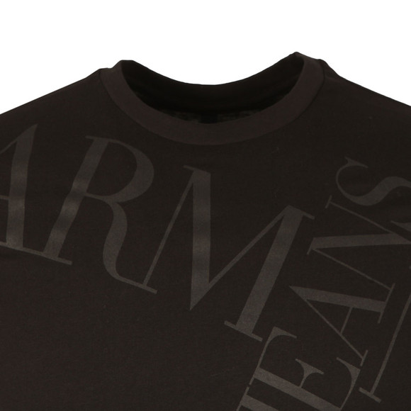Armani Jeans Mens Black 6Y6T14 Logo T Shirt main image