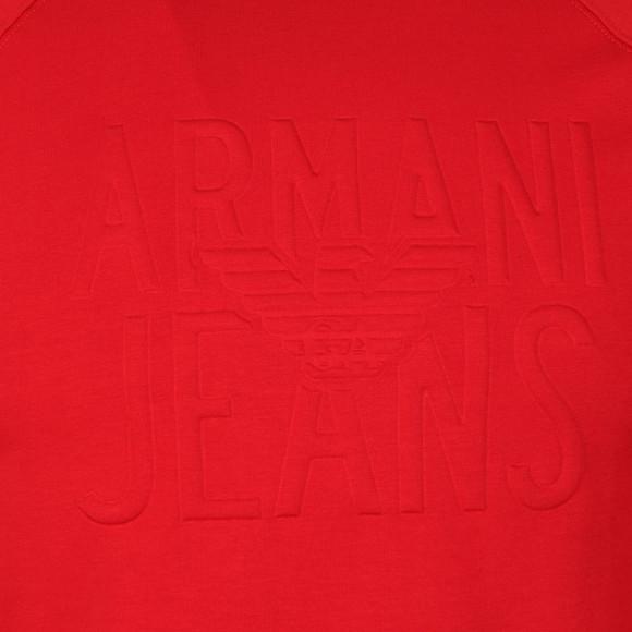 Armani Jeans Mens Red Embossed Logo Sweatshirt main image