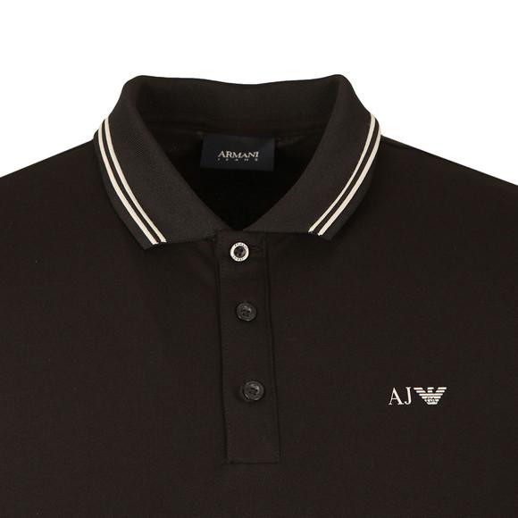 Armani Jeans Mens Black Twin Tipped Polo Shirt main image