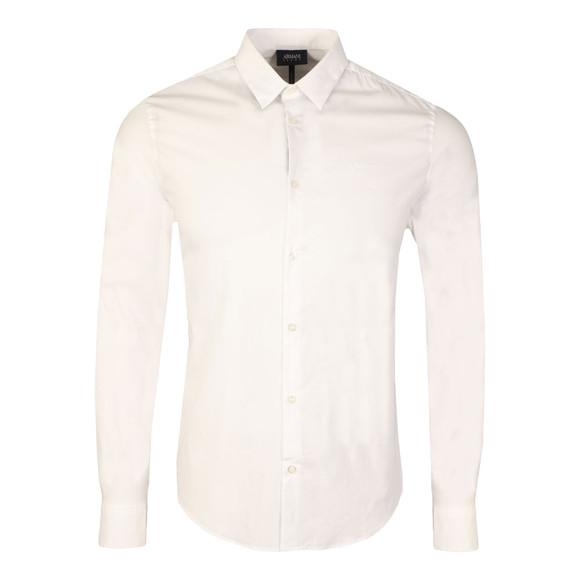 Armani Jeans Mens White Plain Shirt main image