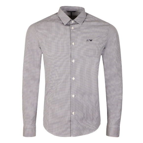 Armani Jeans Mens Blue 8N6C09 Check Shirt main image