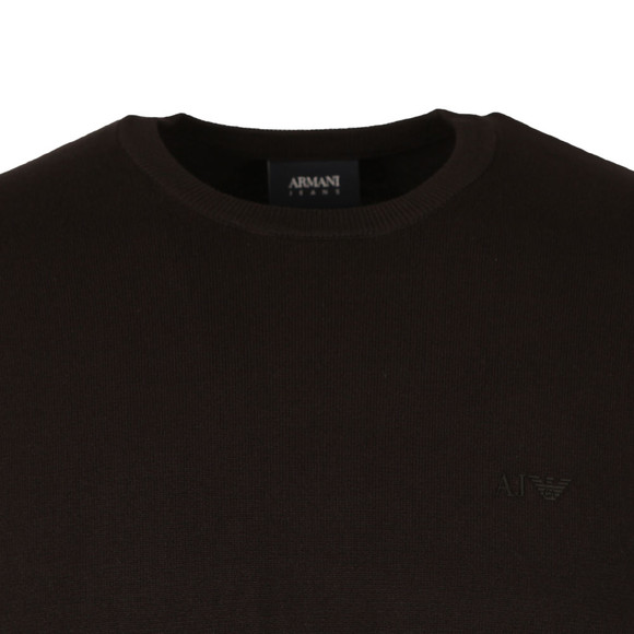 Armani Jeans Mens Black 8N6MA1 Crew Neck Jumper main image