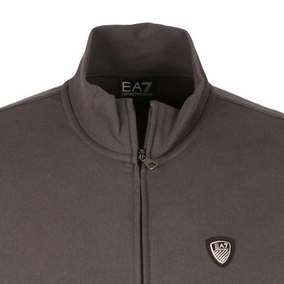 EA7 Emporio Armani Mens Grey Shield Logo Full Zip Sweat main image