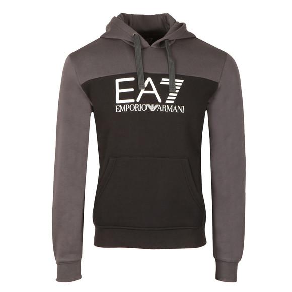 EA7 Emporio Armani Mens Black Two Tone Overhead Hoody main image
