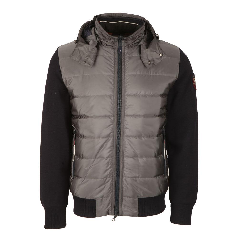Mixed Fabric Hooded Jacket main image