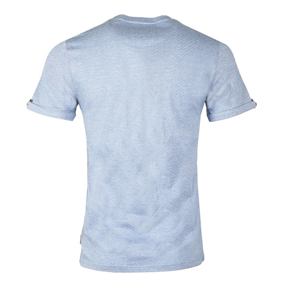 Ted Baker Mens Blue Vue S/S Jacquard Tee main image