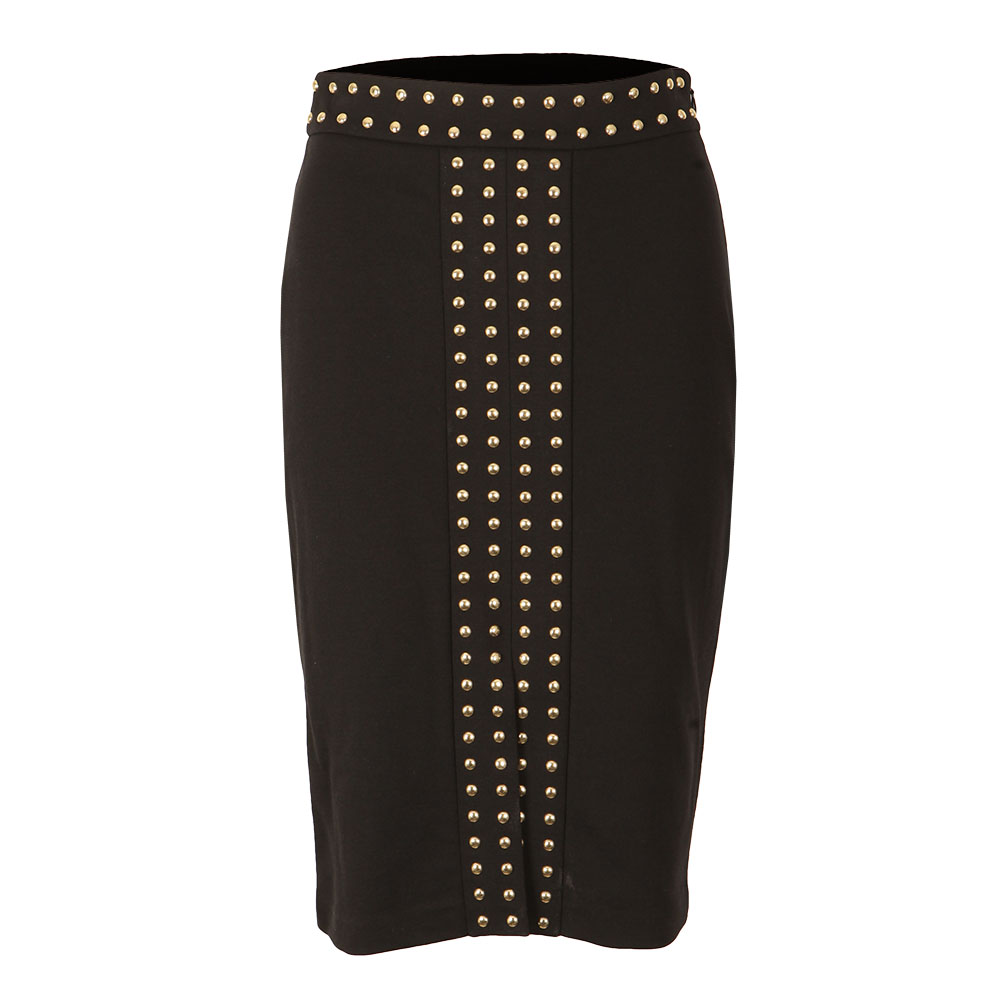 Embellished Slit Band Skirt