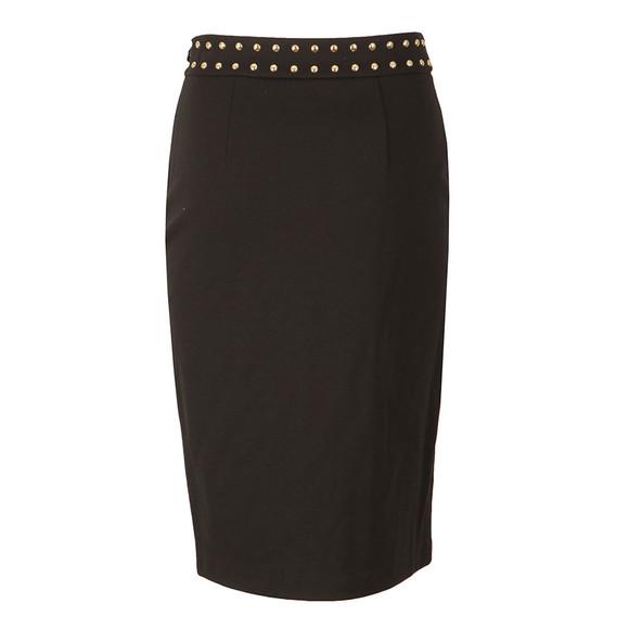 Michael Kors Womens Black Embellished Slit Band Skirt main image