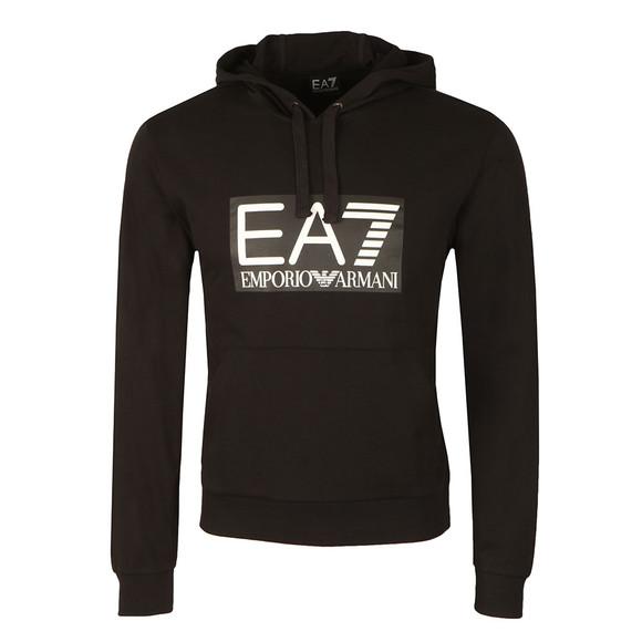 EA7 Emporio Armani Mens Black Large Logo Overhead Hoody main image