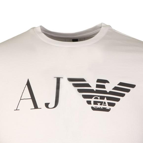 Armani Jeans Mens White 8N6T99 Logo T Shirt main image