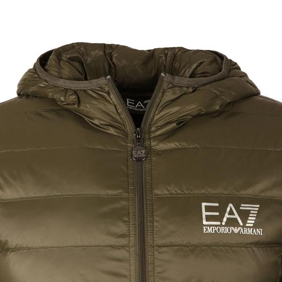EA7 Emporio Armani Mens Green Train Core ID Light Down Jacket main image
