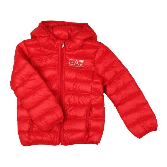 EA7 Emporio Armani Boys Red Down Puffer Jacket main image