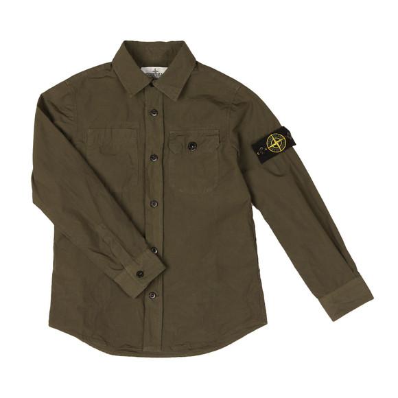 Stone Island Junior  Boys Green Sleeve Badge Shirt main image