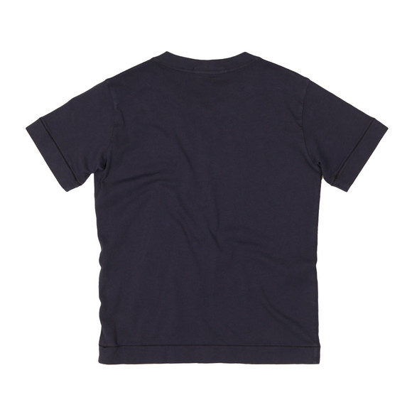 Stone Island Junior  Boys Blue Square Patch Logo T Shirt main image