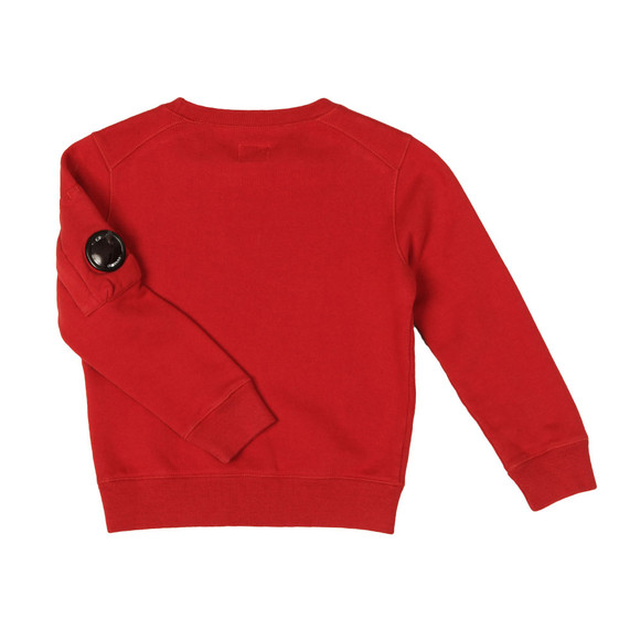 CP Company Undersixteen Boys Red Logo Viewfinder Sleeve Fleece Sweatshirt main image