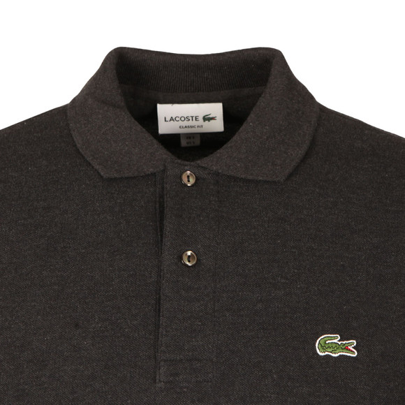 Lacoste Mens Grey L1313 Long Sleeve Polo main image