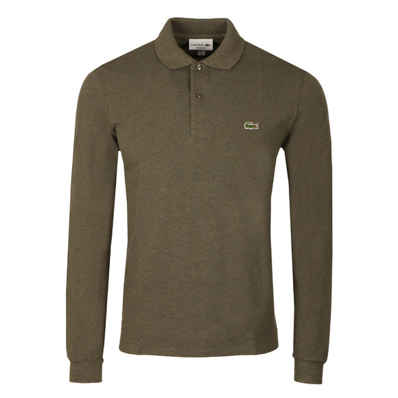 Lacoste Mens Brown L1313 Long Sleeve Polo main image