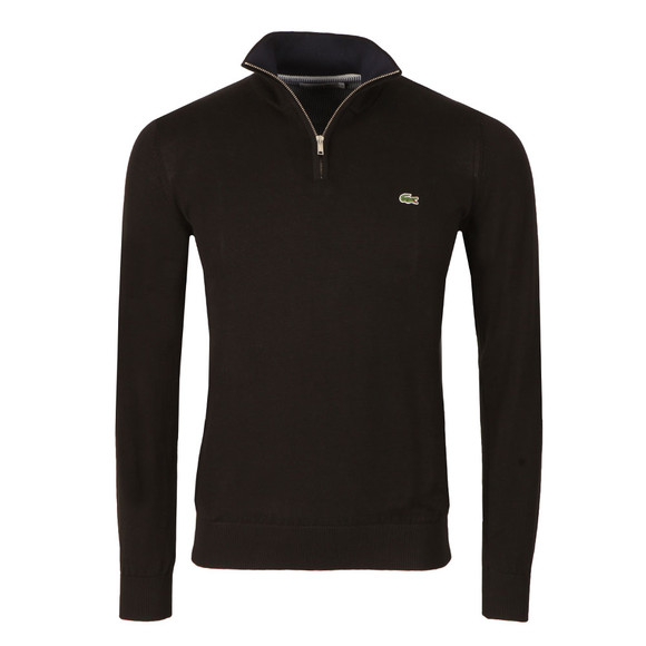 Lacoste Mens Black AH7368 1/2 Zip Jumper main image
