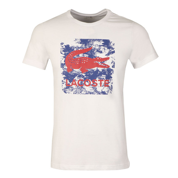 Lacoste Sport Mens White S/S TH8125 Tee main image