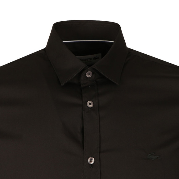 Lacoste Mens Black CH9628 LS Slim Stretch Shirt main image