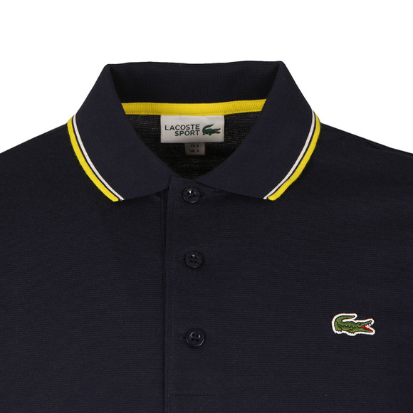 Lacoste Sport Mens Blue S/S YH7900 Tipped Polo main image