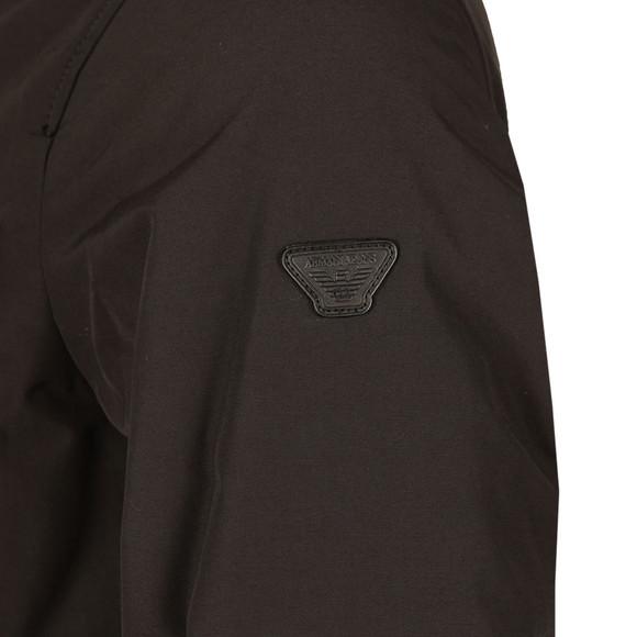 Armani Jeans Mens Black Woven Caban Jacket  main image