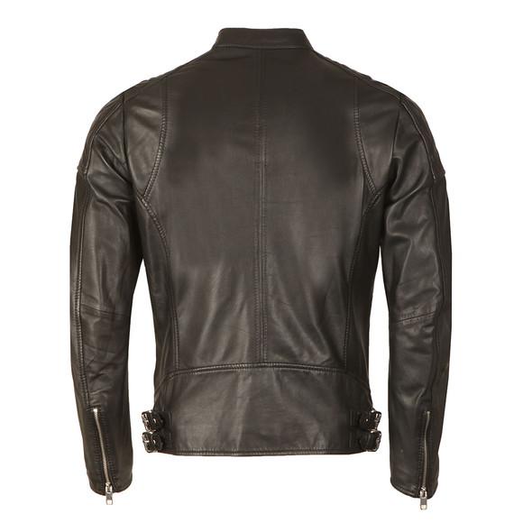 Diesel Mens Black L-Marton Leather Jacket main image