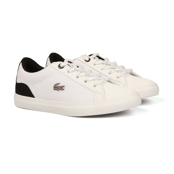 Lacoste Boys White Lerond 317 Canvas Trainer main image