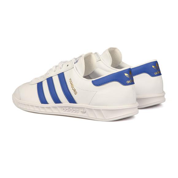 Adidas Originals Mens White Hamburg Trainer main image
