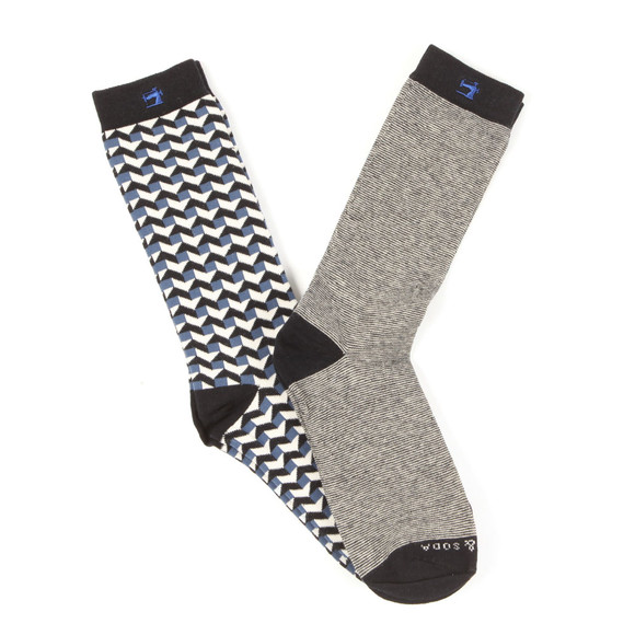 Scotch & Soda Mens Multicoloured Classic Sock With Pattern main image