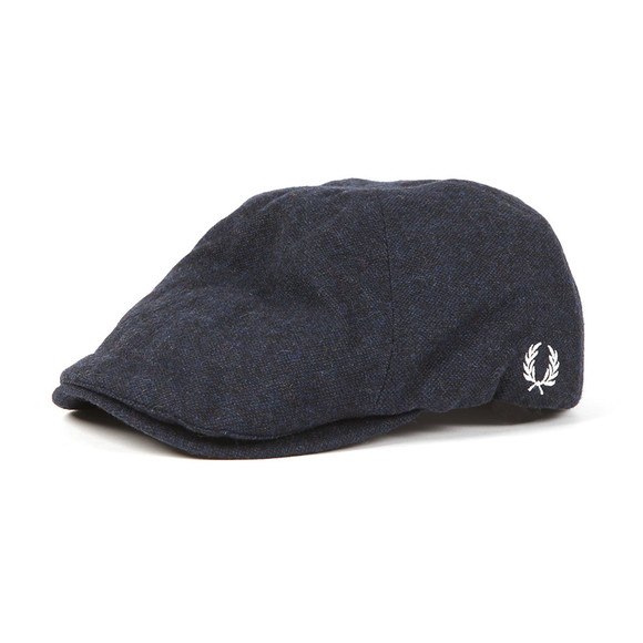 Fred Perry Mens Blue Boiled Wool Flat Cap main image