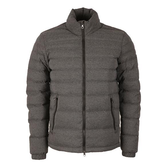 EA7 Emporio Armani Mens Grey Shield Badge Puffer Jacket main image