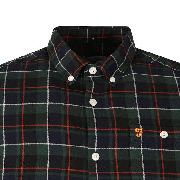 Farah Mens Blue L/S Oldman Check Shirt main image