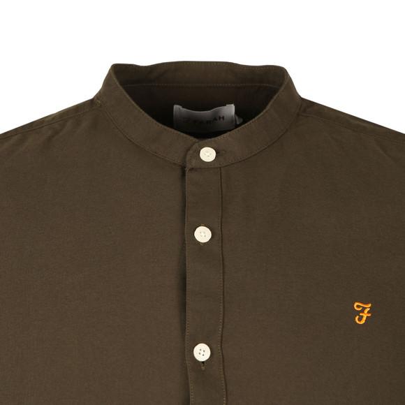 Farah Mens Green Brewer LS Grandad Shirt main image