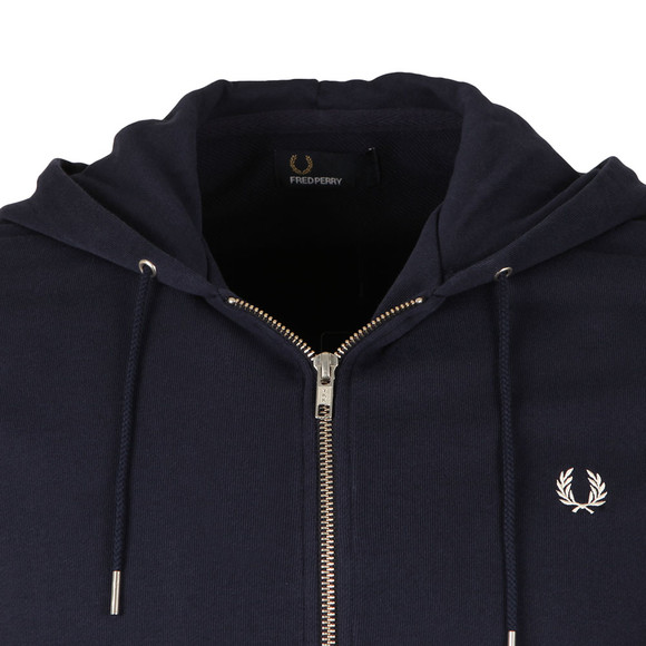 Fred Perry Mens Blue Loopback Hooded Sweat main image