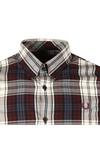Fred Perry Mens Brown Bold Tartan LS Shirt