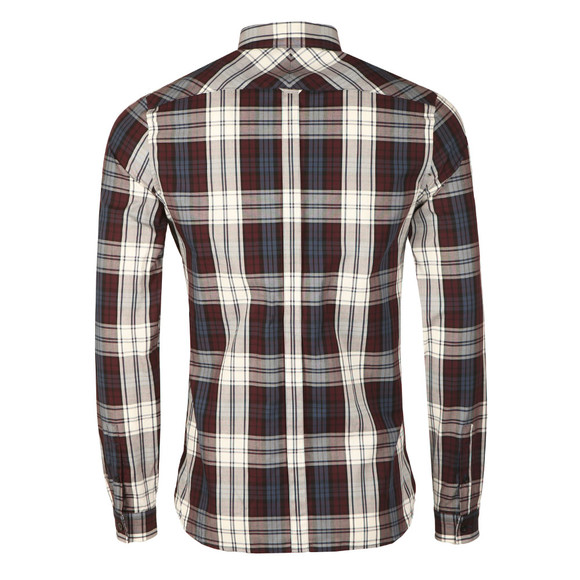 Fred Perry Mens Brown Bold Tartan LS Shirt main image