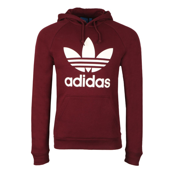 Adidas Originals Mens Red Trefoil Hoodie main image