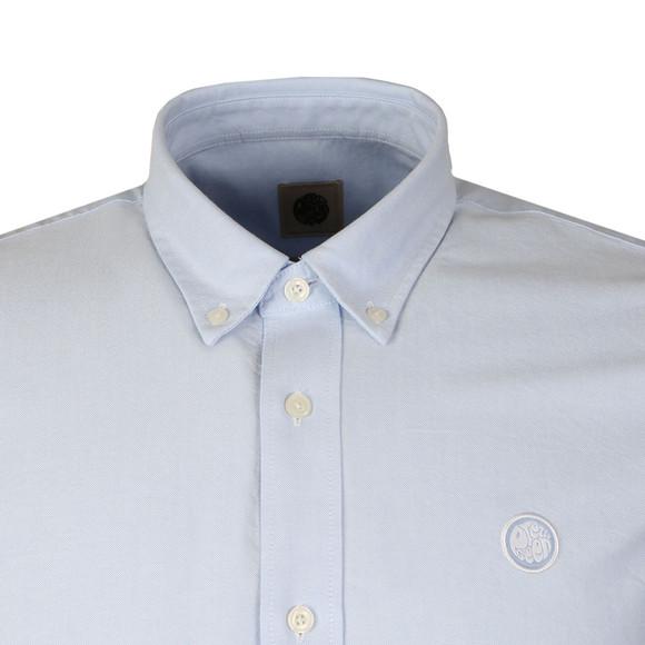 Pretty Green Mens Blue L/S Sterling Oxford Shirt main image