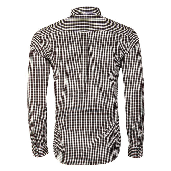 Pretty Green Mens Black L/S Francis Gingham Shirt main image